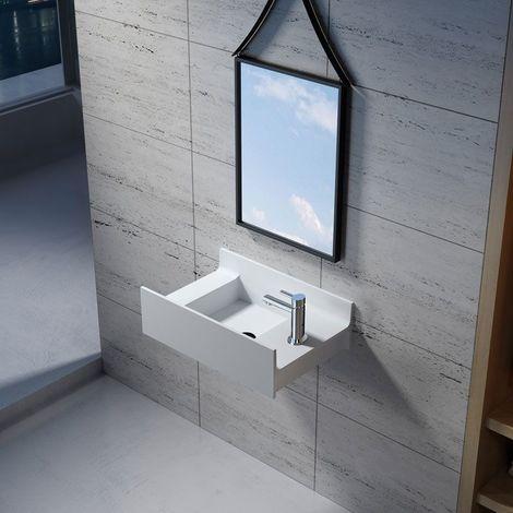 Petite vasque murale en solid surface SDV68R version droite
