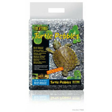 Petits Cailloux de rivière Turtle Pebbles pour Tortue Exo Terra 8-10 mm Sac 4,5 kg