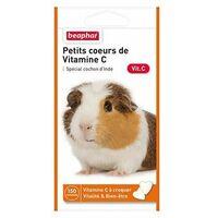 Petits coeurs de vitamine c, cochon d'inde - 150 cps