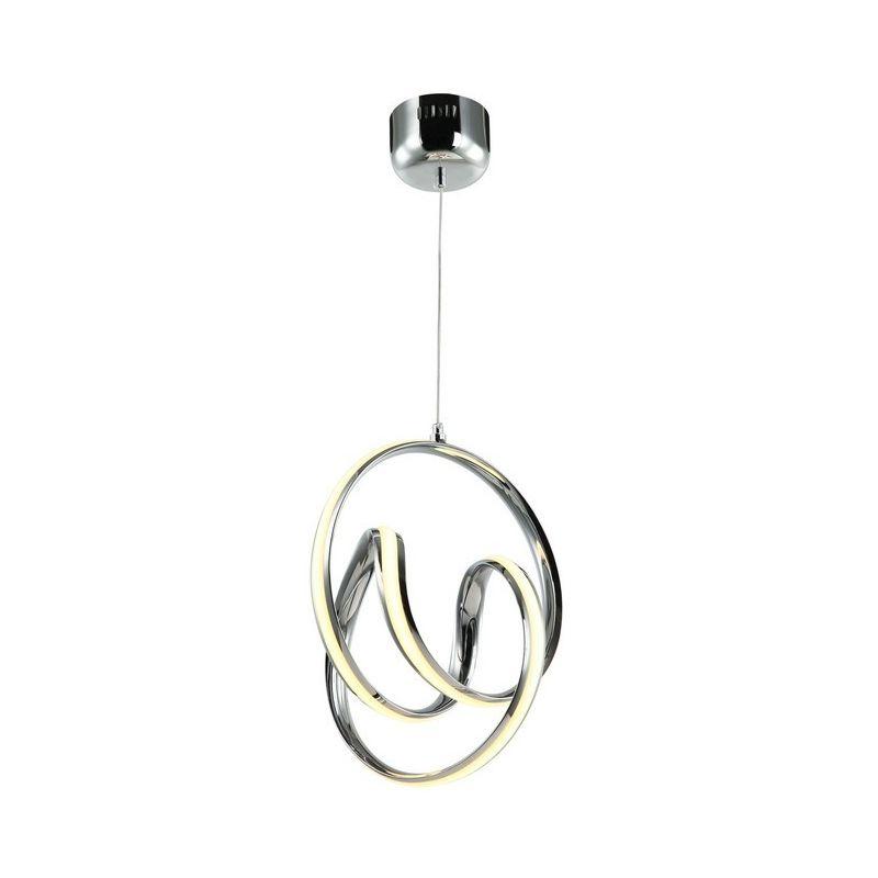 Homemania - Petrino Haengelampe - Kronleuchter - Deckenkronleuchter - Chrom aus Metall, 25 x 31 x 135 cm, 1 x LED, 44W, 3080LM, 3000K