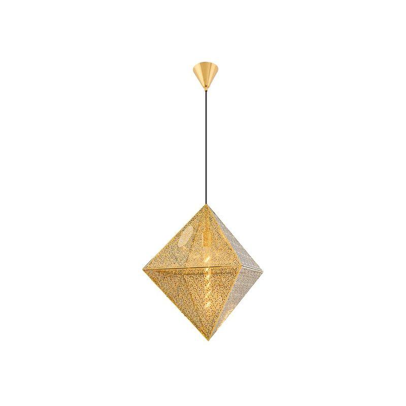 Homemania - Petro Haengelampe - Kronleuchter - von Decke - Gold aus Metall, 50 x 50 x 120 cm, 1xMax 40W, E27