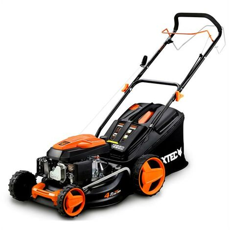 Petrol 146cc lawnmower 18inch cutting width -mowing, collecting, mulching, side discharge- self-propelled - FUXTEC RM4646