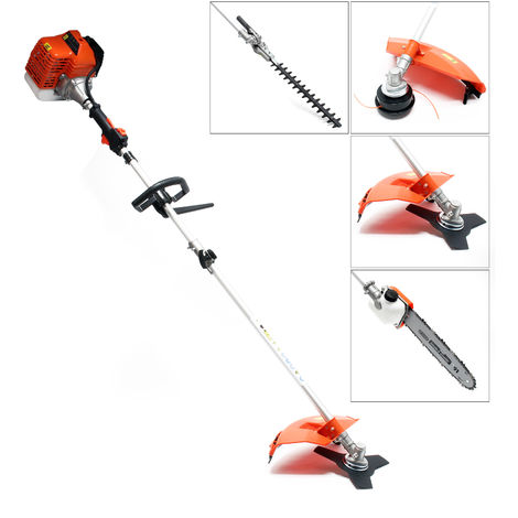 Petrol 1.76 HP Multi-Tool 5-in-1 including Hedge Trimmer, Brushcutter, String Trimmer and Pole Saw
