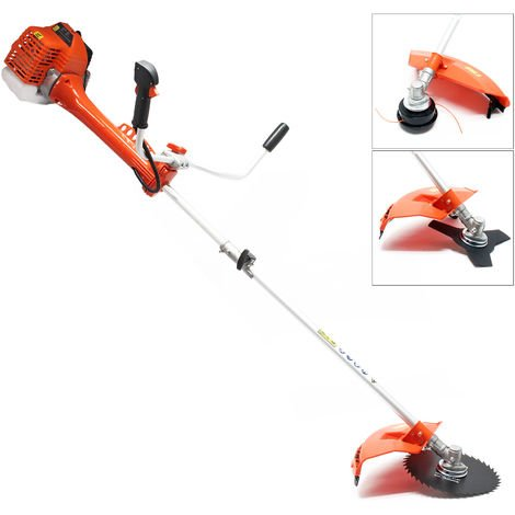 Petrol 2 in 1 Brushcutter and Grass Trimmer with 1.3 kw, 1.76 HP, 52 ccm and 6500 r/min