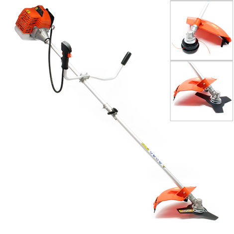 Petrol 2 in 1 Garden, Brushcutter and Grass Trimmer with 1.76HP, 1.3 kw, 52 ccm and 6500 r/min