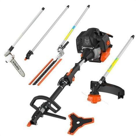 Petrol 5 in 1 Multitool - adjustable high level pruner, long-range hedge trimmer, brush cutter, thread head, 1m-extension FUXTEC MT252ER