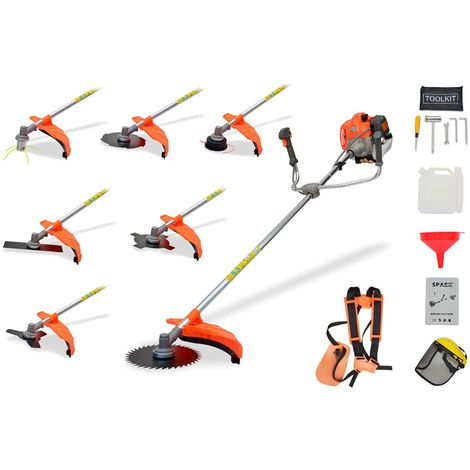 Petrol Brushcutter 52cc 7 In 1 With Harness And Safety