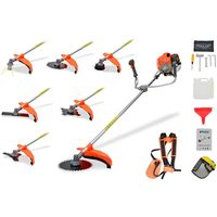 Petrol Brushcutter 52cc 7 in 1 with Harness and Safety Helmet
