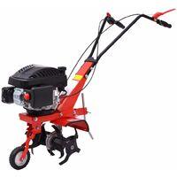 Petrol Cultivator Tiller 5 HP 2.8 kW Red
