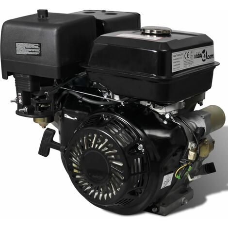 Petrol Engine 15 HP 9.6 kW Black