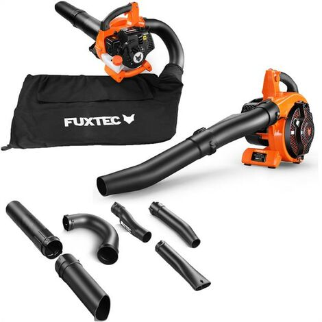 Petrol leaf blower 26cc 4in1 blowing-vacuum-shredder-function + collection bag FUXTEC LBS126