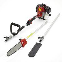 Petrol Long Reach Pole Chain Saw Pruner Chainsaw Garden Tool