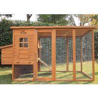 Pets Imperial® Arlington Hühnerstll mit extra Langen Auslaufflächen 8ft/2,5m und Asphaltabdeckung geeignet für 4/6 Vögel je nach Größe
