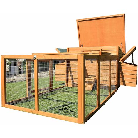Pets Imperial® Balmoral Double Large Chicken Coop With Run Suitable For Up to 8 Birds Depending on Size