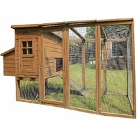Pets Imperial® Blenheim Chicken Coop With Extra Long Run 8ft/2.5m and Wire Mesh Roof Suitable For 4/6 Birds Depending On Size