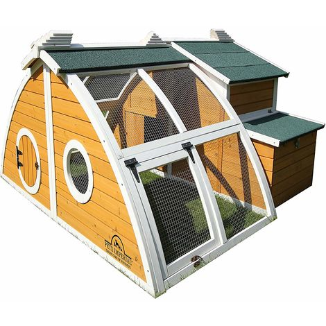 Pets Imperial® Green Ritz Chicken Coop Hen House Poultry Nest Box Ark Rabbit Hutch Run