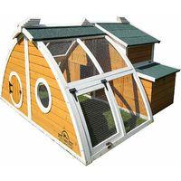Pets Imperial® Green Ritz Chicken Coop Hen House Poultry Nest Box Ark Rabbit Hutch Run