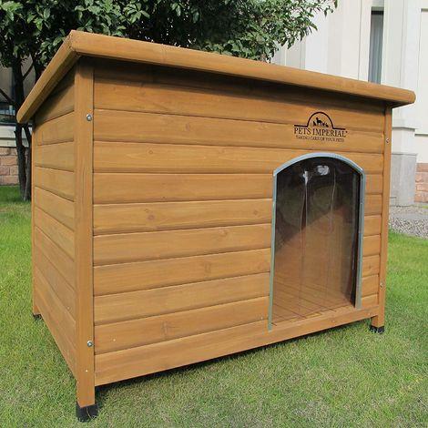 Pets Imperial® Norfolk Chenil Isolé En Bois très grande taille chien Avec Plancher Amovible Pour Un Nettoyage Facile