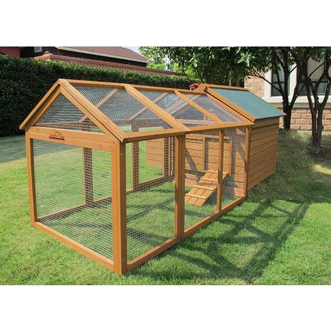 Pets Imperial® Savoy Large Chicken Coop With 1.4m Run Suitable For 4 to 6 Birds Depending on Size With Single Nest Box - Easy Clean Leaning Tray