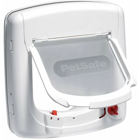 PetSafe Infra-Red 4-Way Cat Flap Deluxe 500 White 5008