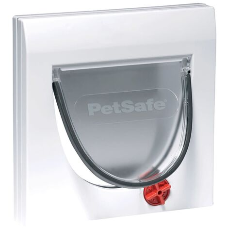 PetSafe Manual 4-Way Cat Flap with Tunnel Classic 917 White 5030 - White