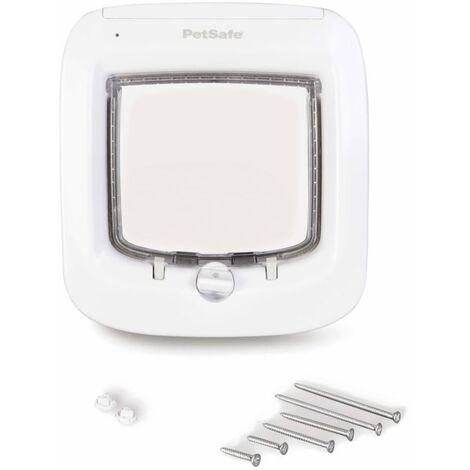 """main image of """"PetSafe Microchip Cat Flap White PPA19-16145 - White"""""""