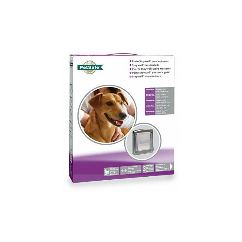 Struttura Solida PetSafe Porta Staywell per lingresso e luscita di Cani e Gatti; facilit/à di Montaggio; gattaiola Interna//Esterna; Pannello di Chiusura Incluso Garantita Marrone L