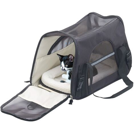 """main image of """"Peut transporter un sac de transport pour animaux de compagnie de 8 kg, sac de transport pour chat ,noir"""""""
