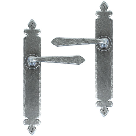 Pewter Cromwell Sprung Lever Latch Set