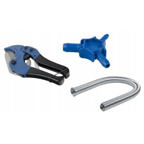 Pex 16 pipe set calibrator + scissors + spring