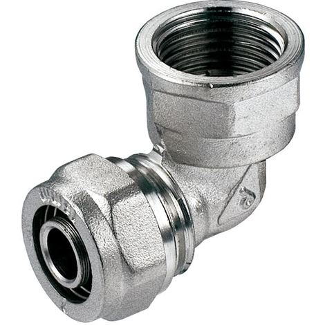 "PEX-AL-PEX 16mm x 1/2"" Female BSP Compression Fittings Elbow Pipe Connector"