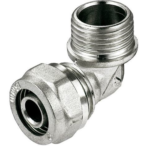 "PEX-AL-PEX 16mm x 1/2"" Male BSP Compression Fittings Elbow Pipe Connector"