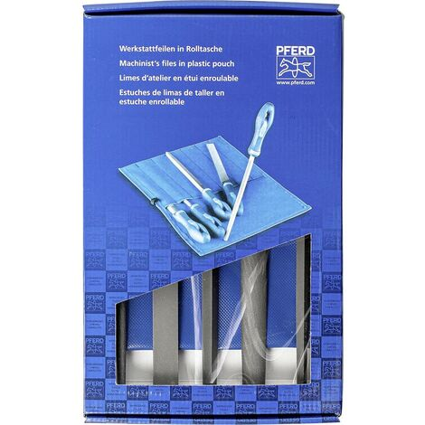 PFERD 11801541 SET de limes datelier 250 mm Heb 1 dans un sac à roulettes en PVC avec carton demballage Longueur de