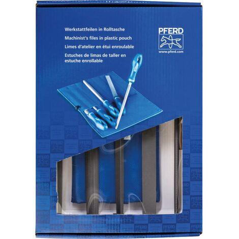 PFERD 11801542 SET de limes datelier 250 mm Heb 2 dans un sac à roulettes en PVC avec carton demballage Longueur de