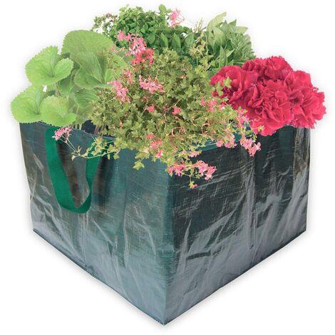 Pflanzensack, 500x500x300 mm, 4 Fächer, grün