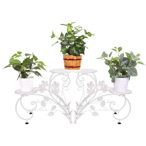 Pflanzenständer Pflanzenregal mit 4 Ablagen: Blumenregal aus Metall,für Innen Balkon Wohzimmer Outdoor Garten Dekor 93x40x23cm