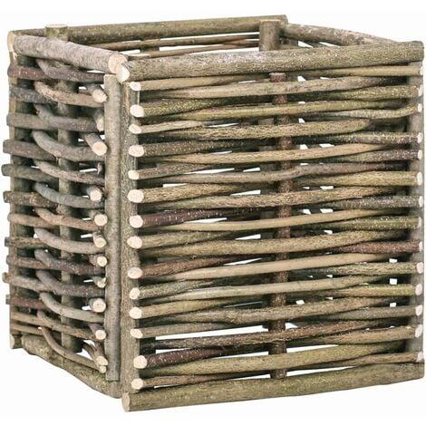 Garten-Hochbeet 40×40×40 cm Haselnussholz