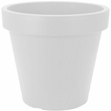 Pflanzkübel - RUND - M - Ø 40 cm - Farbe: weiß