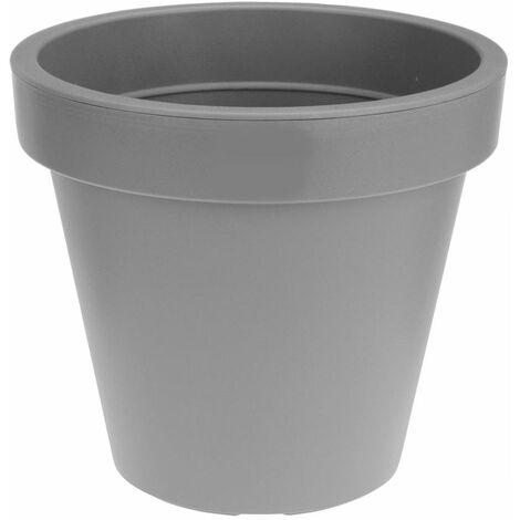 "main image of ""Pflanzkübel - RUND - XXL - Ø 60 cm - Farbe: hellgrau"""