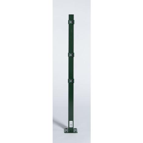 Pfosten mit Montageplatte für Stab- u. Doppelstabmatte grün (RAL 6005)