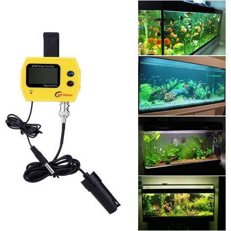 PH-991 pH-metre en ligne mini aquarium haute precision, petit standard europeen, livre sans batterie