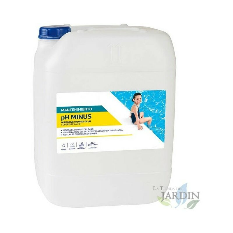 Ph liquide mineur pour piscines, 20 litres