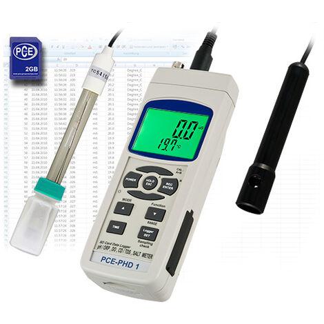 pH-Mètre, Conductimètre, Mesureur d'oxygène dissous PCE Instruments PCE-PHD 1