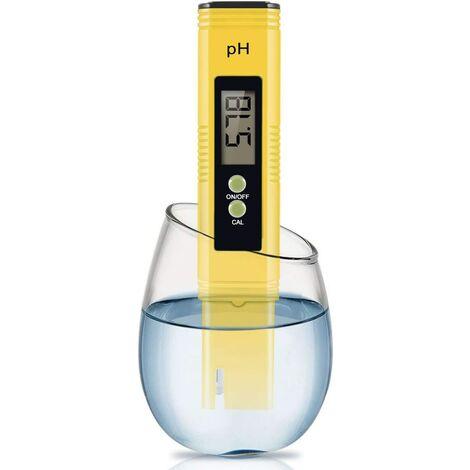 PH-mètre numérique, pH-mètre 0.01 PH Testeur de qualité de l'eau haute précision avec plage de mesure 0-14 PH pour la conception de testeur de pH d'eau potable, de piscine et d'aquarium domestique avec ATC