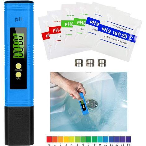 PH Mètre Numérique, Testeur de qualité de l'eau Digital LCD, Plage de Mesure pour 0-14 Ph, 0,01 Ph Précision, pour l'eau Potable, Aquariums, hydroponie, piscines, Bleu