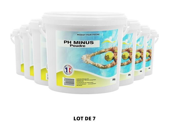 Ph Minus poudre - 7x5kg de Swimmer - pH, TAC