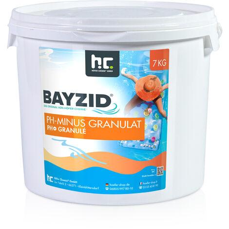 pH moins granulé - différentes quantités