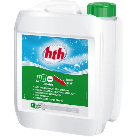 pH moins liquide 5 L - HTH