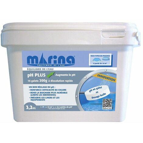 pH PLUS galets de 200g Marina - 3,2kg