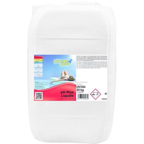 PH Plus Liquide AQUALUX pour augmenter la valeur du PH - bidon 25 kg - PP0806025